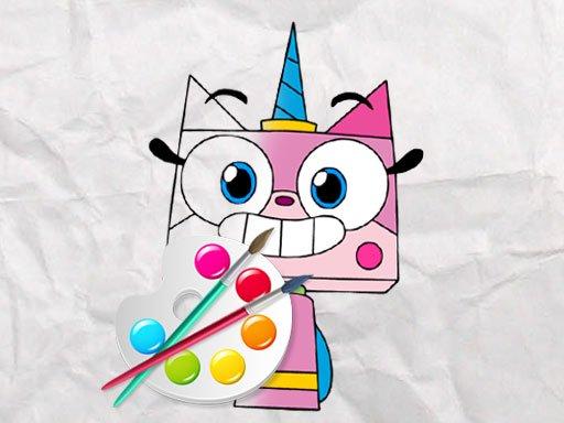 Unicorn Kitty Coloring Book - Free Game